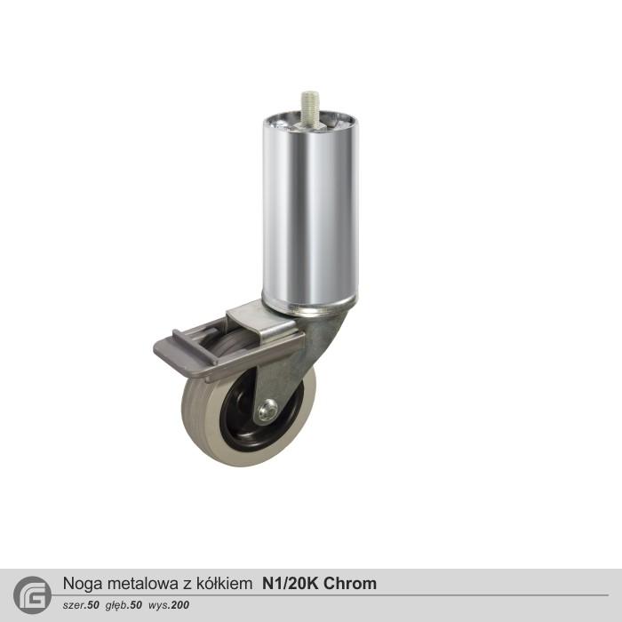 Metalowe N1/10K chrom (2 szt)