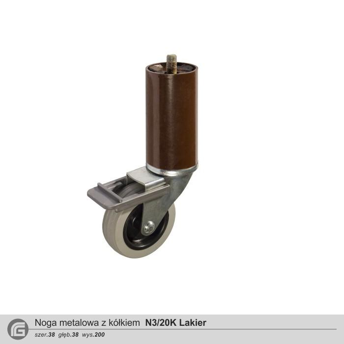 Metalowe N3/10K z kółkiem lakier (2 szt)